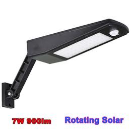 Wholesale Wholesale Garage Lighting - Rotating Solar Powered Security Light, Wireless Waterproof Motion Sensor Solar Light, Outdoor Wall Lamp for Patio, Deck, Garden, Garage