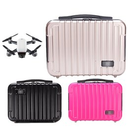 Wholesale Rc Boxes - 2018 Best Selling Bag for DJI Spark Waterproof Hardshell Handbag PC Case Bag RC Spare Parts Suitcase Box for DJI Accessories