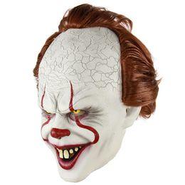 2019 masquerade, partido, adereços 2018 New Best Stephen King's Pennywise Máscara De Látex Halloween Máscara Assustador Cosplay Palhaço Partido Prop Horror Palhaço Masquerade Para Homens Coringa desconto masquerade, partido, adereços