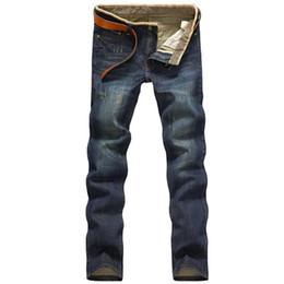 Wholesale picture seasons - 2016 Four Season Men Jeans homme Slim Straight Pant Blue Color Brand clothing Plus Size 38 Jeans hombre Men Real picture denim
