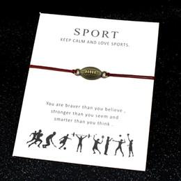 Calcio Sport Bracciali Baseball Ginnastica Chiave a ferro di cavallo Amore serratura Charms Gioielli regolabile Donne Uomini Ragazzi Amicizia regalo supplier gymnastic gifts da regali ginnastici fornitori