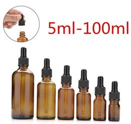 Wholesale wholesale quality perfumes - Quality Sample Bottles Glass Perfume bottle Liquid Reagent Pipette Bottles Eye Dropper Aromatherapy 5ml-100ml DHL FREE SHIPPING
