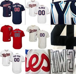Wholesale Custom Twin - CUSTOM Minnesota Twins Mens Women Youth Customized Majestic Stitched Baseball Jerseys Personal name Person number