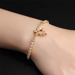 Wholesale White Gold Bangle Butterfly - MiLaTu Luxury Butterfly Wedding Bracelet Cubic Zirconia Prongs Bracelets & Bangles Bijoux Pulseira Female Jewelry Gift B519