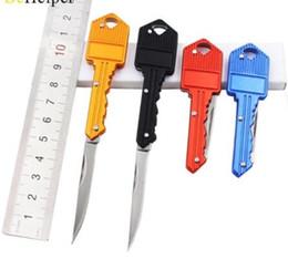 Wholesale Mini Key Knife - EDC gear Mini portable Pocket Protable Key Fold Knife Key Pocket Knife Key Chain Knife Peeler Mini