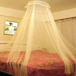 mosquito net fabric Australia - Elegant Hung Dome Mosquito Nets For Summer Polyester Mesh Fabric Home Textile Wholesale Bulk Accessories Supplies Products