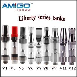 Wholesale Original V8 - Original Itsuwa Amigo Liberty V1 V3 V5 V6 V7 V8 V9 V11 V12 Tank Ceramic Coil Atomizer CE3 Cartridges Oil Bud Touch