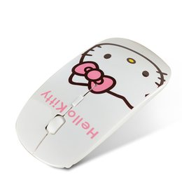 Usb ciao online-Cute Kitty Portable 2.4G Wireless Mini Mouse Cartoon per bambini