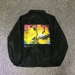 2019 куртка негабаритных мужчин 2018 Kanye West сезон 5 негабаритных дети видят призрак печатных женщин мужчин Куртки пальто моталки хип-хоп уличная мужская куртка пальто скидка куртка негабаритных мужчин