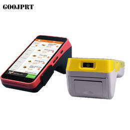 Wholesale Pda Scanners - Free shipping Mini Pos thermal printer Barcode Scanner Handheld POS Terminal wireless bluetooth wifi Android PDA 3G Distribution