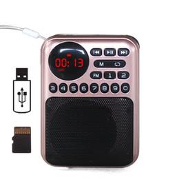 disco flash del lettore mp3 Sconti Ricevitore radio portatile ricaricabile MP3 Radio FM con batteria 18650 Supporto USB Flash Disk TF Card Lettori MP3 Lettori musicali