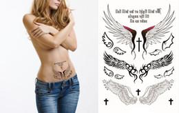 2019 tatuagens de asas de anjo Voltar Tattoo Sexy Angel Wings flash etiqueta impermeável Qualidade do produto Henna temporária Tatoo Body Art Wall Sticker tatuagens de asas de anjo barato