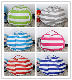 Wholesale Wholesale Bean Bag Beds - 5 styles 24 inch Kids Storage Bean Bags Plush Toys Beanbag Chair Bedroom Stuffed Animal Room Mats Portable Clothes Storage Bag
