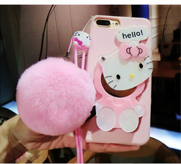 YunRT Cute 3D Hello Kitty Cat Cartoon con copri-cover in TPU con cover rigida a specchio da cassa del telefono di trucco fornitori