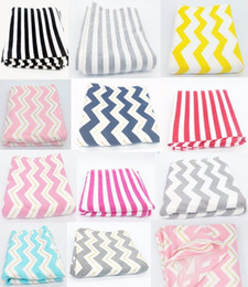 Wholesale Striped Cotton Scarves - Baby Car Seat Cover Nursing Cover Chevron Striped Breast Feeding Cover Baby 95%Cotton Nursing Apron Scarf Breastfeeding Covers