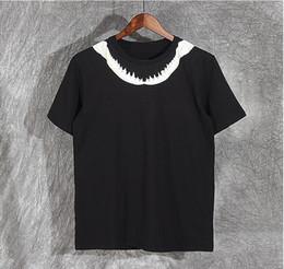 Wholesale Bones Tee Shirts - High New Novelt women Men Shark teeth bones neck T Shirts T-Shirt Hip Hop Skateboard Parkour Street Cotton T-Shirts Tee Top