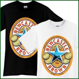 newcastle brown Promotion NOUVEAU CHATEAU MARRON ALE Bière T-Shirt Brewery Ale Promo Noir Blanc TShirt Sz S-2XL