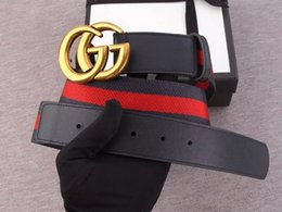 Wholesale car buckle belts - G buckle belt Blooms snake bee dragon tiger head feline Women Web belt 411924 409416