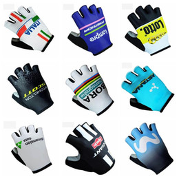 Wholesale pad outdoor - ASTANA CINELLI 2018 TEAM new Gloves Cycling Outdoor Racing Wear-resistant Bike gloves with Gel pads C2013