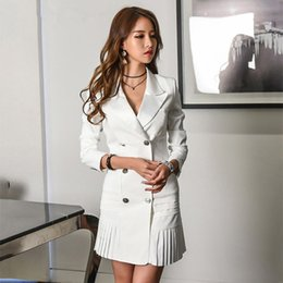 bce55245a62ea Long Sleeve Double Breated Slim Plus Size Jackets And Blazers For Women  Coats Series New 2018 Women s Blazer Female Coats
