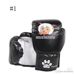 Wholesale wholesale karate - Boxing Gloves For Kids Kick Boxing Wraps Training Fight Free Combat Sandbag Punching Bag Gloves Karate Muay Thai Training Gloves 3-14T