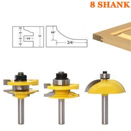 Wholesale Carbide Router Cutters - 3pcs 8mm Shank Raised Panel Cabinet Door Router Bit Set Woodworking Cutter Woodworking Router Bits Carbide Bit Door Knife