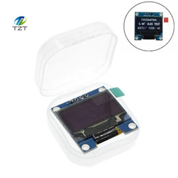 Wholesale arduino lcd module - White Blue color 128X64 OLED LCD LED Display Module For Arduino 0.96 I2C IIC Serial new original with CaseI