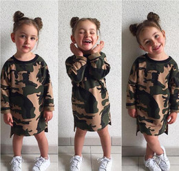2019 одежда для ту Дизайнер камуфляж Детская одежда Детская одежда ins девушки летний комбинезон мальчики девочки младенческой пижамы одежда стили длиной до колен платья MC01