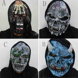 2019 зомби-маски Halloween Adult Mask Zombie Mask Latex Bloody Scary Extremely Disgusting Full Face Costume Party Cosplay Prop дешево зомби-маски