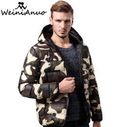 68ae93207c1 Wholesale-Camouflage Brand Men s Winter Thick Cotton Coats Hoodies Outwear  Male Warm Coat Men Casual Warm Down Jacket Parka Thick Mens 217 men winter  jacket ...
