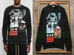 2019 topblock 2018 Herbst Luxusmarke Kleidung Mens Sweatshirts hohe Qualität Graffiti Block weiß Sterne drucken Hoodie Herren Sport Designer Hoodies Tops rabatt topblock