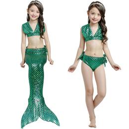 Biquíni infantil on-line-Top quality Meninas Sereia Princesa Natação Terno Cauda Cosplay sete Estilo Crianças Bikini Set Verão Swimwear