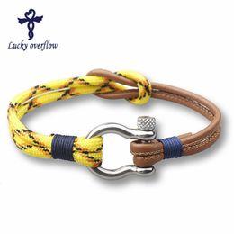 Corda del marinaio online-2018 nuovo modo degli uomini del braccialetto di 2018 Coppia Bracciali per le donne Sport Ganci stile del blu marino multistrato corda marinaio regalo Speranza Femme