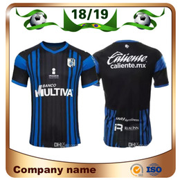 03562908e8c 2019 Liga MX Queretaro FC Home Blue Soccer Jersey 18 19 Mexico League PUCH  SANVEZZO HIRAM Soccer shirt Queretaro FC football uniform