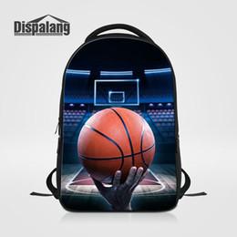 Homens faculdade futebol on-line-Bagpacks Ao Ar Livre dos homens Grande Capacidade Mochila Escolar Para Estudantes Universitários Impressão 3D Basketabll Futebol Futebol Bookbags Adolescentes Laptop Bags