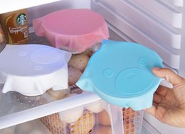 Wholesale refrigerator covers - Reusable Silicone Refrigerator Food Storage Cover Saran Wrap Cling Film