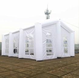 Wholesale White Marquees - Inflatable Tent Family Garden Wedding Marquee White Advertising Frame Tents Customized Outdoor Structure For Party And Event