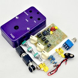 Wholesale Kit Diy Pedal Guitar - NEW DIY Fuzz& Distortion pedal kit Fuzz Pedal Electric Guitar Effect Pedal by Handmade true bypass for Bass guitar