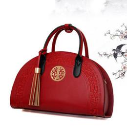 Bolsos de la marca china online-Relieve estilo chino Vintage moda marca mujeres Shell bolsa PU cuero mujer bolso para mujer bolsos de hombro Totes femeninos bolsos