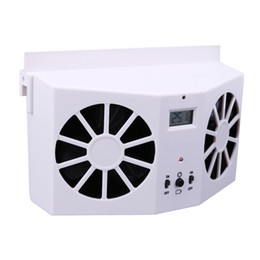 Ventilador de ar solar on-line-Poupança de Energia Solar Powered Car Interior Auto Ventilação de Ar Cool Cooler Fan Sistema de Ventilação Melhorar o fluxo de ar Interno Cooler