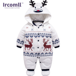 12 month boys rompers Coupons - Spring Baby Boys Girls Clothing Cotton Newborn Baby Boy Rompers Winter Children Infant Christmas Clothes for 0-12 Months