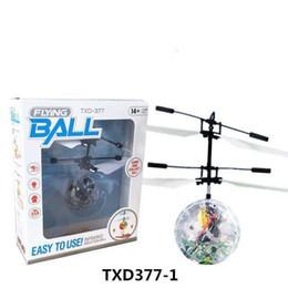 2019 blinkende windmühlenspielzeug Bunte Fliegen RC Spielzeug Heißer RC Fliegen Ball Drone Hubschrauber Ball Eingebaut Shinning LED Beleuchtung Ball für Kinder Teenager Geschenke