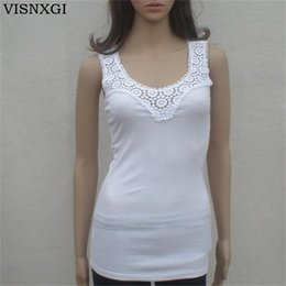 Argentina VISNXGI Summer Womens Tank Tops Sexy Lace Vest Top Crochet Hollow-out Chaleco Camisole Negro Blanco Gris Amarillo Blusa sin mangas supplier yellow vest blouse Suministro