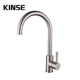 Wholesale Valve Brush - SUS304 Stainless Steel Kitchen Faucets Brushed Mixer Water Tap Hot Cold Mixing Valve Faucet Leadless