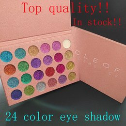 Wholesale Top Quality Makeup - Top quality!!NEW Makeup CLEOF Cosmetics 24 color eye shadow Glitter Eyeshadow Palette Beauty Shimmer Eye Shadow free delivery