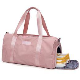9c3768b54941 Bolsa de gimnasia femenina para mujer Fitness Yoga Bolsa de deporte Bolsos  Bolsa de entrenamiento para hombres de viaje Lady s Big School Shoe Black  Pink ...
