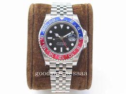 Guarda 24 gratis online-Free box 126710 Basel World Nuovo 126710BLRO Rosso e blu bicolore GMT Cerachrom Pottery 24 ore scala parola uomini movimento automatico orologio