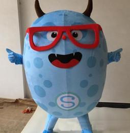 Wholesale Cute Mascot Costumes - 2018 High quality Blue Demon Mascot Eva Cartoon Garment Clothing Christmas Carnival Hallowmas Party Cute blue Mascot Costume
