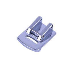 sew machine parts Promo Codes - Quality Quick-change Sewing Machine Foot Thin Material Pleat Pressure Parts Presser Foot Double Gathering Snap Sewing Supplies