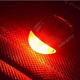 Wholesale solar energy bike - Hot Sale LED Red Bike Bicycle Solar Lights Bicycle Rechargeable Solar Energy Tail Rear Ourdoor Safety Light